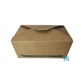CAJA CARTÓN RECTANGULAR NATURAL 2800 ML. 40 UNI.